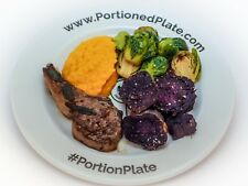 Portion Control Plate Weight Loss Adult Healthy Eating Cook Meal Measure Diet