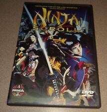 Ninja Scroll (DVD, 1998) with insert