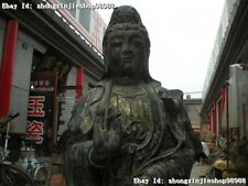 "49 ""Huge Tibetan Buddhism 18 arhat Kwan-Yin Bodhisattva old Bronze Buddha statue"