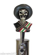 Zombie Zapata Gun Slinger Skull Head Tap Handle Beer Sports Bar Brew Keg Ale