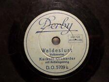 """KARKOFF-ORCHESTER & GESANG """"Waldeslust/ Im Rosengarten von Sanssouci"""" Derby 20cm"""