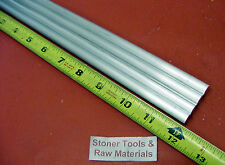 """4 Pieces 3/8"""" ALUMINUM 6061 ROUND ROD 12"""" long T6511 .375 Solid Lathe Bar Stock"""