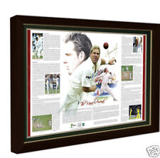 SHANE WARNE ARSENAL LIMITED EDITION HAND SIGNED FRAMED PRINT ASHES WORLD CUP