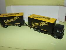 CAMION MAN Wechselkoffer-Lastzug SCHWEPPES WIKING 1/87 ho