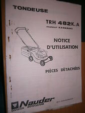 TROMECA NAUDER tondeuse TRH 482 K.A  : notice utilisation