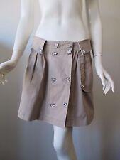 Meghan Los Angeles Tan Khaki Artificial Diamond Button Mini Skirt fits M/L