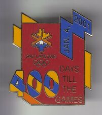 RARE PINS PIN'S .. OLYMPIQUE OLYMPIC SALT LAKE CITY 2002 DAY 400 COUNTDOWN ~18