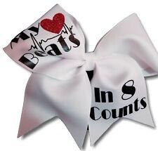My Heart Beats in 8 Counts Cheer Hair Bow
