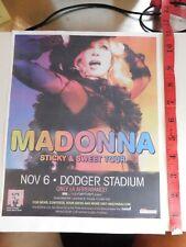Madonna Hard Candy Sticky & Sweet Tour newspaper flyer MB2