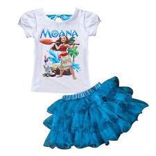 Moana Princess Girls Dress Cosplay Gown Kids Clothing Children Fancy Dress