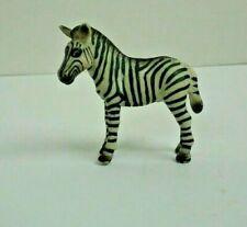 Schleich 1998 left facing adult Zebra, Retired, toy, figurine, wildlife.