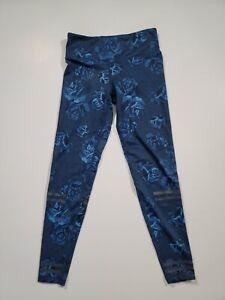 LILYBOD High Waist Leggings Blue Floral Print Size S