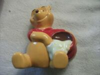 Disney Winnie the Pooh with hunny Pot 5 inch ceramic figure Honey