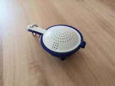 Tupperware Schlüsselanhänger Saladin Sieb blau weiß  NEU