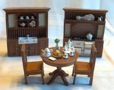 """DOLL HOUSE HARD RESIN FURNITURE """"KITCHEN"""" 5 PCS - VERY DETAILED, MUST SEE"""
