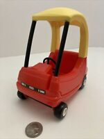 Little Tikes Dollhouse Size Mini Cozy Coupe Car Toy Small Red Yellow Vintage
