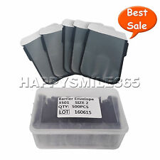 500/Box Size 2 Dental Digital X-Ray ScanX Barrier Envelopes for Phosphor Plate