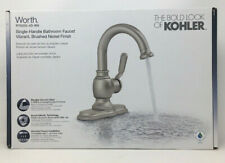Kohler Worth Single Hole 1-Handle Bathroom Faucet in Vibrant Brushed Nickel