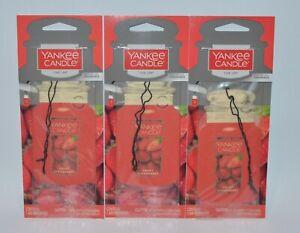 3 Yankee Candle Fresa Dulce Coche Clásico Bote Ambientador Closet Rv Colgante