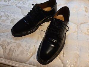 JONES Bootmaker Mens Black Leather Shoes, size 9
