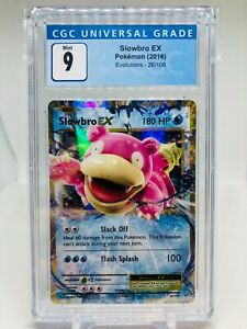 Pokemon XY Evolutions Slowbro EX MINT Graded CGC 9 (PSA 10)