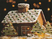 """""""Christmas-""""The Gingerbread House"""" /Picture on Postcard/ {Postcard}  (V-37)"""
