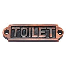 Toilet Door Siign cafeteria Toilet sign 71.50mm x 21mm Brass Antique Copper