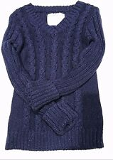 JUSTICE V Neck Navy Blue Pullover Sweater Girls Size 6