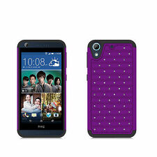 For htc Desire 626 626S 530 PURPLE BLACK CLEAR DIAMOND COVER CASE + SCREEN FILM