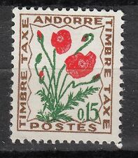 TIMBRE TAXE  ANDORRE FRANCE NEUF  N° 48  **  FLEURS DES CHAMPS