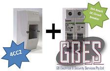 Noark DC Circuit Breaker 20A 2 Pole & Switchboard Enclosure Clipsal 4CC2 Combo