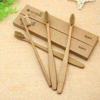 5-10pcs Pure Bamboo Natural Toothbrush Environmentally Eco Friendly Adult Medium