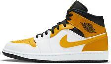 Air Jordan 1 Mid Universidade Ouro Branco, Preto e Amarelo 554724-170