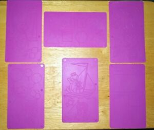 Mattel Barney Shapes & Colors Rubbing Kit 6 2-Sided Replacement Rubbing Plates