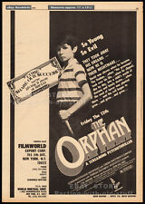 FRIDAY THE 13TH : THE ORPHAN__Original 1979 Trade Print AD / poster_horror promo