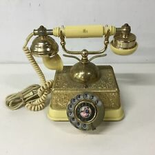 Vintage Style Brass & Plastic Dial Telephone #512