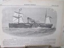 Vintage Print,S.R.SPAULDING,Harpers,1860