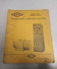 Kato Generator Sets Control Systems Operation & Service Manual AC-966-C