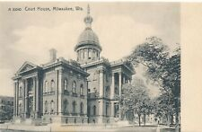 MILWAUKEE WI – Court House Rotograph Postcard – udb (pre 1908)
