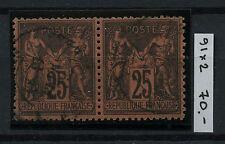 FRANCE 1878 25c Yvert/Maury 91 Used Pair CV€70.00