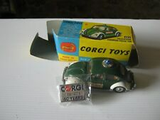 CORGI  492  VW EURO POLICE ORIGINAL PLAYWORN STILL GOOD AS SHOWN IN ORIGINAL BOX