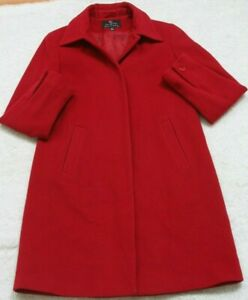 Gallery Collection Jacket Coat Red Women's Button Front 10 Ten Womans Wool Nylon