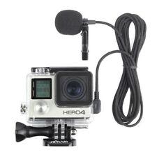 Side Open Skeleton Housing Case + 6.5' External Microphone for GoPro Hero 3 3+ 4