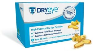 DRYeye Forte X 3 or X 6 Boxes High Potency Dry Eye Formula relief from dry eyes