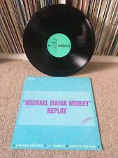 "REPLY Michael Mania Medley 12"" 1989 Funk Soul TRIBUTE TO MICHAEL JACKSON EXC!!!"