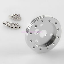 "Practical Black Aluminum 0.5"" Hub For Autos Automobile 5 & 6 Hole Steering Wheel"