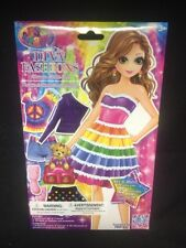 (AL) 1 DIVA FASHIONS DRESS UP STICKER DOLL LISA FRANK MIX/MATCH OVER 25 FASHIONS