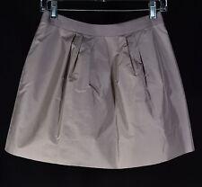 J CREW Beige 100% Silk Taffeta Full Mini Skirt Tulle Underskirt & Lined Size 0