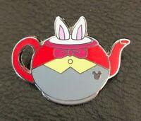 ☕ White Rabbit Teapot Pin - Hidden Mickey - Alice in Wonderland - Mad Tea Party