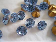 Full pack of 36 Preciosa Rhinestones in 46ss Lt. Sapphire color/foiled.